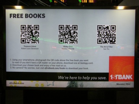 1st Bank Using QR Codes
