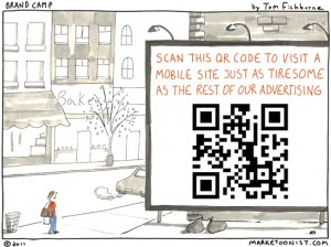 QR Code Cartoon Brand Camp by Tom Fishburne