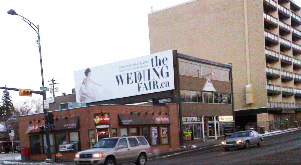 TheWeddingFair.ca billboard