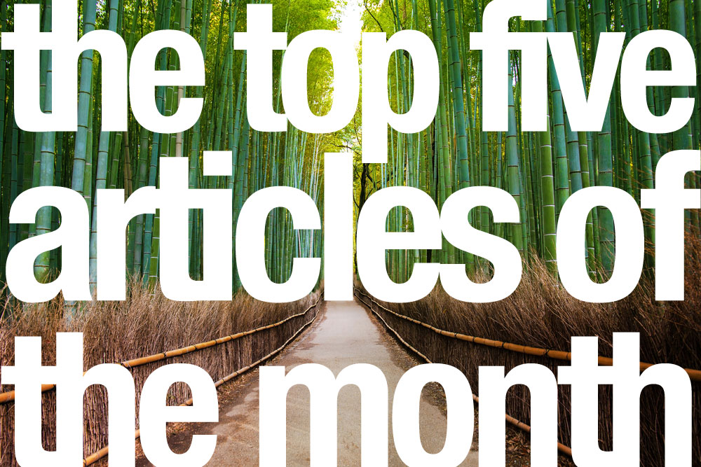 The top five articles of the month